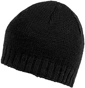 Nirvanna Designs CH604 Rib Band Beanie with Fleece, Black