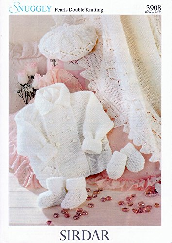 3f411926e6bc Sirdar Snuggly Pearls DK Baby Knitting Pattern 3908  Amazon.co.uk  Baby