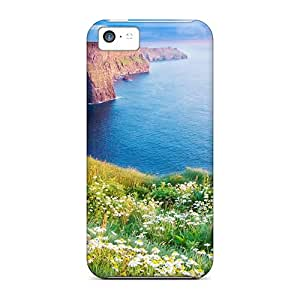 High Quality EDD Coastal Camomile Flowers Skin Case Cover Specially Designed For Iphone - 5c