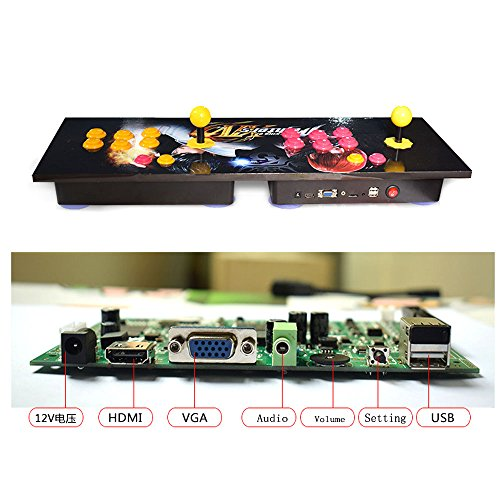 Tongmisi 986 in 1 Play Station TV Arcade Game Console Pandora's Box 5s for Two Joystick Player ()