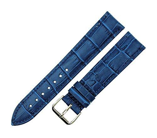 Correa para Reloj de Piel de cocodrilo de 22 mm de RECHERE, Color Azul: Amazon.es: Relojes