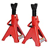 3 Ton Heavy Duty Jack Stands Ratcheting Set Pair Height Adjustable Car Truck TKT-11