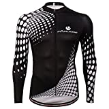 usmc cycling - PANDOOM Outdoor Sports Men's Windproof Long Sleeves Winter Fleece Thermal Cycling Bicycle Jersey Jacket Size 2XL