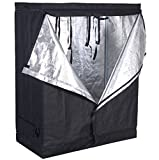48''x24''x60'' Grow Tent Non Toxic Reflective Mylar Room Box (48''x24''x60'') Indoor Plant Hut Hydroponic