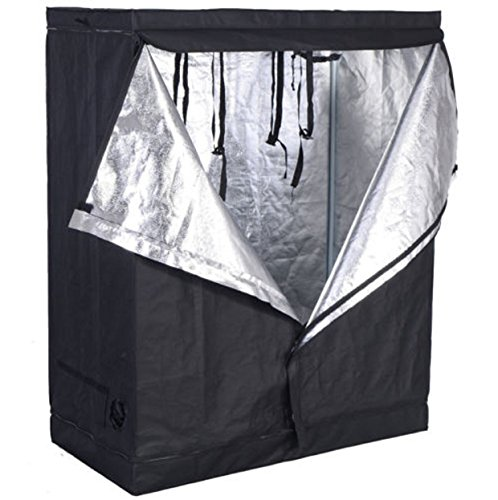 48″x24″x60″ Grow Tent Non Toxic Reflective Mylar Room Box (48″x24″x60″) Indoor Plant Hut Hydroponic For Sale