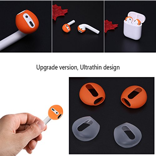 Hacloser 2 Pairs/set Super Thin Silicone Eartips Headset 2 Pairs/set Super Thin Silicone Eartips Earphone Earbuds Cover Upgraded for iphone Airpods Earphone