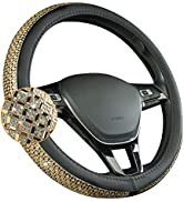 August Auto Universal Fit 15Inch Car Steering Wheel Cover Bling Fit Cars, SUVs, Trucks and Vans