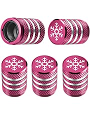 Tire Valve Stem Cap Cover - (5 Pack) Tire Air Caps Metal with Plastic Liner Corrosion Resistant Leak-Proof for Car Truck Motorcycle SUV and Bike
