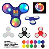 Light-Up LED Fun Spinner - 100 Quantity - PROMOTIONAL PRODUCT / BULK / BRANDED with YOUR LOGO / CUSTOMIZED - Kineticpromos #756