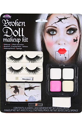 Broken Doll Makeup Kit Halloween Face Paint Fancy (Face Halloween Makeup)