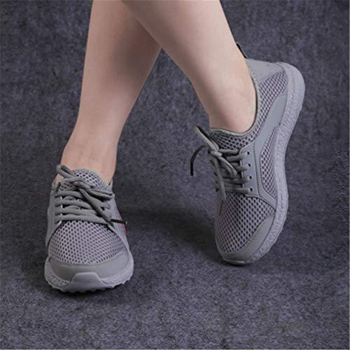 Gris Zapatos Unisex Zapatos Verano Encaje Casuales otoño X0X8UYq
