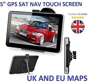 5 Pulgadas Coche camión GPS navegación Lorry Coach HGV Navigator SATNAV 8GB ROM: Amazon.es: Electrónica