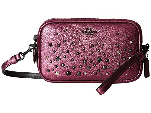COACH Women's Metallic Star Rivets Crossbody Clutch Mw/Metallic Mauve Clutch by Coach