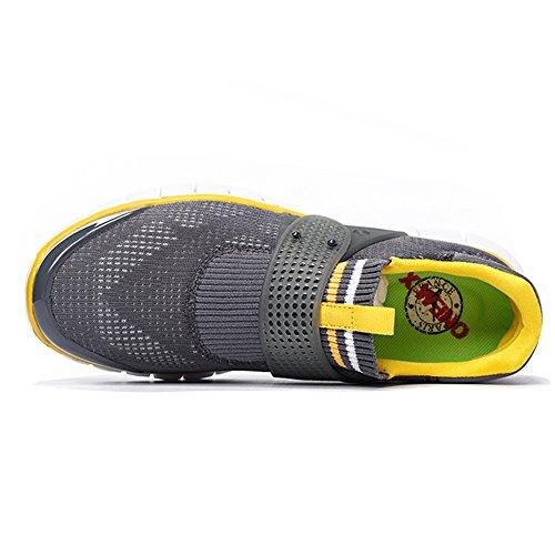 And ONEMIX Women's Running Lightweight Shoes GrayOrange Super Sneakers Gym Men Sports Walking ZZw5prq