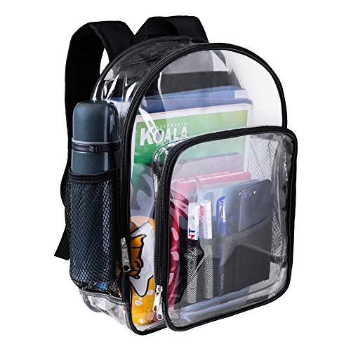 Clear Backpack, Heavy Duty See Through Backpack, Transparent Large Bookbag for College, Work,...