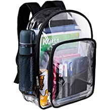 [Sponsored]Heavy Duty Clear Backpack Durable See Through Student School Bookbag Quality...