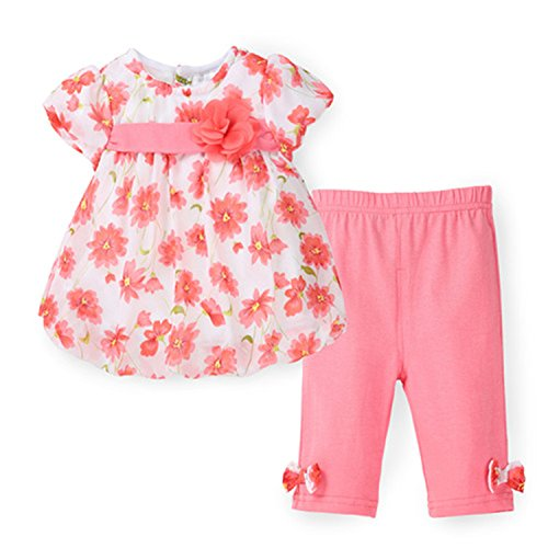 Travfis Girls Clothes Floral Kids Top Suits Chiffon T Shirt Pants Short Baby Girls Clothing Sets As Show - Asheville Outlets In