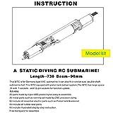 ARKMODEL VIIC Kit 1/48 German U-Boat RC Submarine