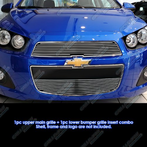 Fits 2012-2016 Chevy Sonic Billet Grille Insert #C66939A