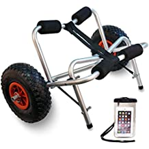 TMS Kayak Canoe Jon Boat Carrier Dolly Trailer Tote Trolleyw/Free Cell Phone Bag