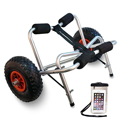 TMS Kayak Canoe Jon Boat Carrier Dolly Trailer Tote Trolleyw/Free Cell Phone Bag by TMS