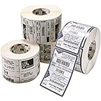 Zebra Technologies 10010041 Z-Select 4000D Paper Label, Direct Thermal, Perforated, 2.25 x 2.5, 1 Core, 5 OD, 1000 Labels per Roll (Pack of 4)