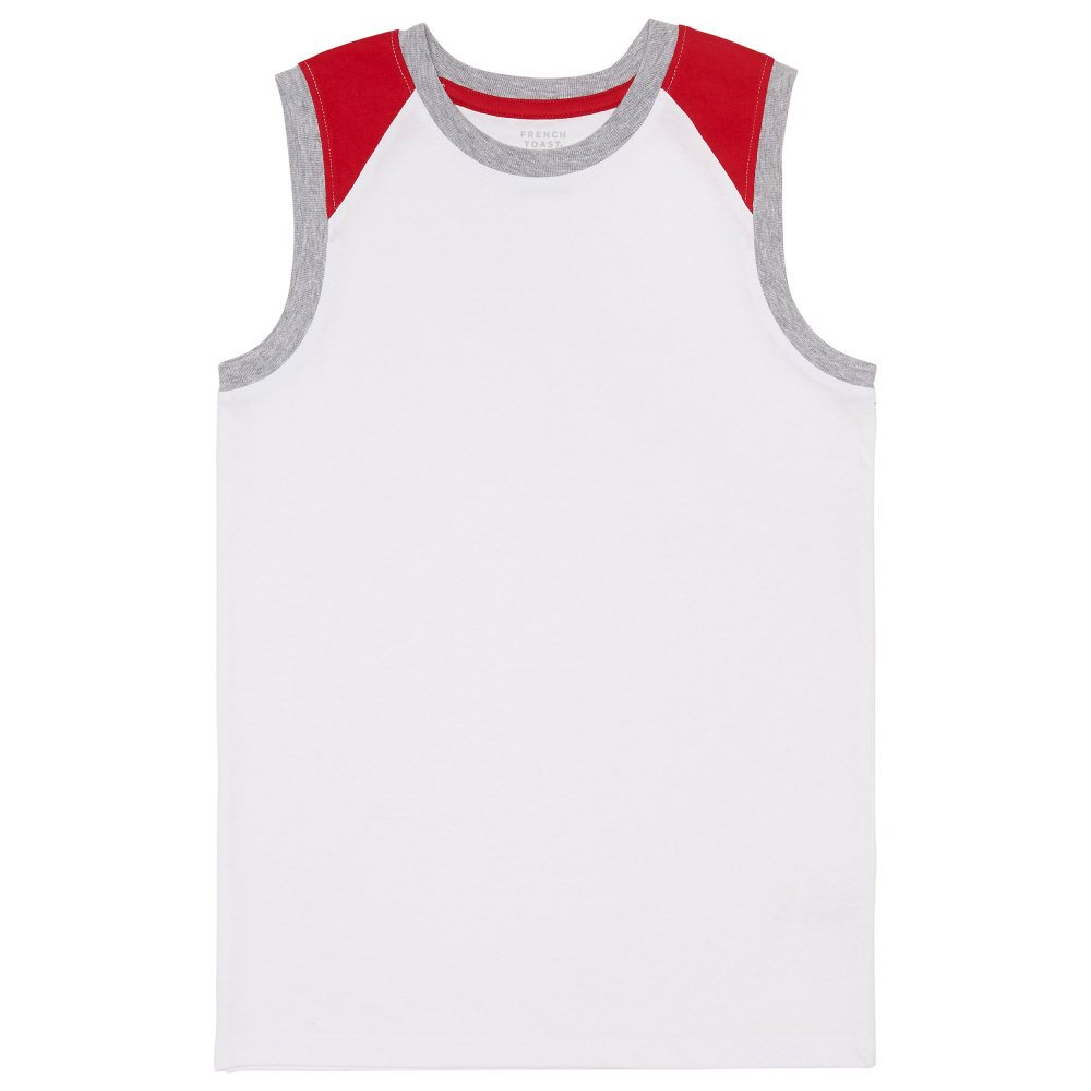 French Toast Boys Basic Color-Blocked Raglan Muscle Tee LA3602