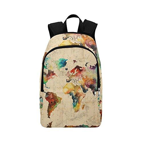 Artsadd World Map Backpack Casual Daypack Travel Bag