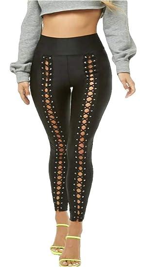 e388add6e1c617 Lace-Up Leggings Sheeny (L Fit Waist 30