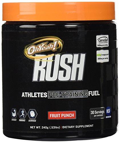 Oh Yeah! Rush Supplement, Fruit Punch, 240 Gram