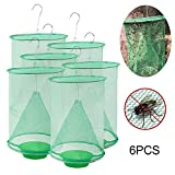 Volwco Fly Traps Outdoor, 2019 Most Effective Ranch Fly Catcher, Great for Indoor