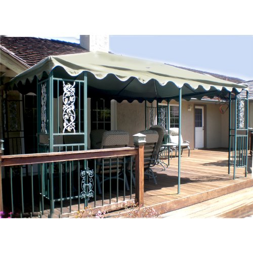 10 x 15 Single-Tier Gazebo Replacement Canopy - RipLock 350 by Garden Winds