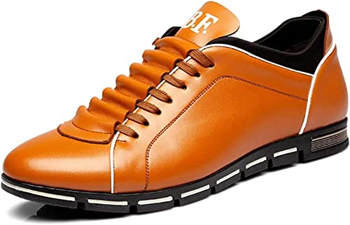 TALLA 38 EU. CUSTOME Hombre Casual Cuero PU Ata los Zapatos Zapatillas