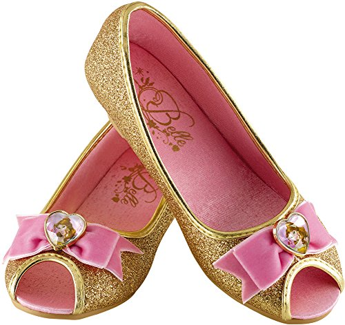 Belle Disney Princess Beauty & The Beast Prestige Shoes, 9/10 Small (Child Classic Belle Costume)