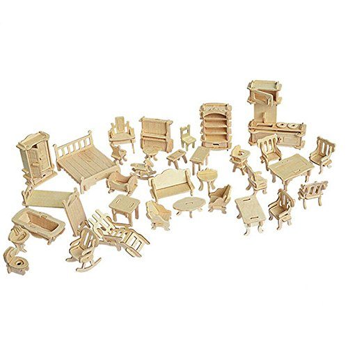SEA-LAND 3-D Wooden Puzzle- Dollhouse Furniture - Doll Houses Furniture