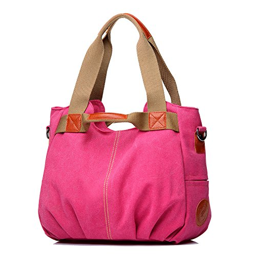 Purse Messenger Bag Pocket Women's Shoulder Pink Canvas Bags Casual Handbag Hobo Shoulder Tote Shopping Handbags Daily Mulit NOTAG Shopper Large Top Handle CwnvPgqx8P
