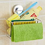 304 Stainless Steel Sink Drain Water Rack Wash Bowl Brush Cloth Cover Water Blue Clean Cloth Kitchen Sponge Hanging Basket
