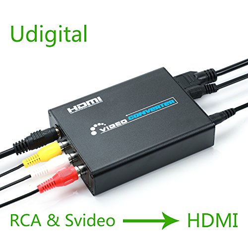 RCA Svideo to HDMI converter adapter,Udigital 3RCA AV CVBS Composite SVideo RL Audio to HDMI Converter Adapter Upscaler Support 720P/1080P N64 Sega Genesis? by Udigital