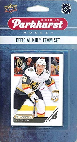 Las Vegas Golden Knights 2018/19 Upper Deck Parkhurst NHL Hockey EXCLUSIVE Limited Edition Factory Sealed 10 Card Team Set including Erik Haula, Marc-Andre Fleury & all the Top Stars & RC's! WOWZZER!