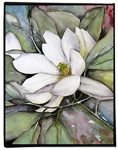 Amazoncom White Magnolia Watercolor Painting On Canvas Flower