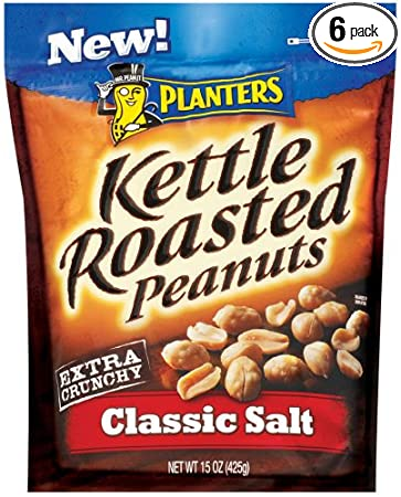 Amazon.com : Planters Kettle Roasted Clic Salted Peanuts, 15 ... on kettle sea salt and malt vinegar, kettle tilt drains, kettle steaming rack for food with,