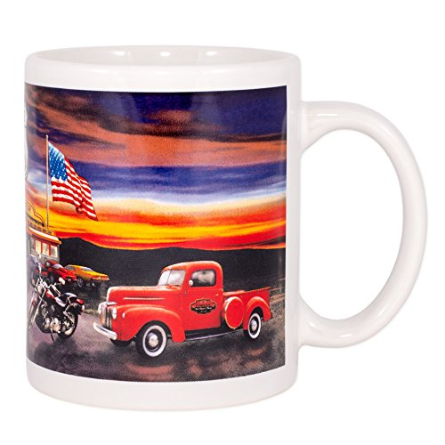 Route US 66 Ceramic 12 Oz Coffee Mug ()