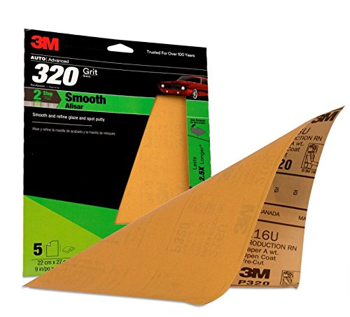3M 32541 9'' x 11'' P320A Grit Production Resinite Gold Sheet (Pack of 20)