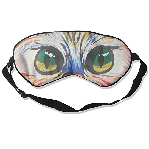 (Sleep Mask Colorful Kitty Eye Cover Blackout Eye Masks,Soothing Puffy Eyes,Dark Circles,Stress,Breathable Blindfold For Women Men)