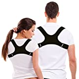 Stability Science's Upper Back Posture Correction Clavicle Support Brace for Men and Women - Comfortable, Stylish, Uncomplicated and Effective - Non Toxic Material – Easy Stress and Pain Relief