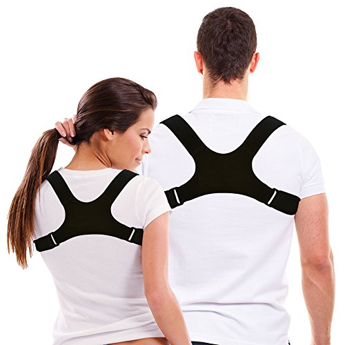 Upper Back Support Brace - Stability Science's Upper Back Posture Correction Clavicle Support Brace for Men and Women - Comfortable, Stylish, Uncomplicated and Effective - Non Toxic Material – Easy Stress and Pain Relief