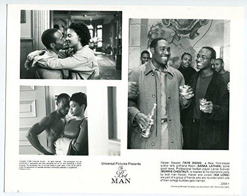 MOVIE PHOTO: Best Man-Taye Diggs-Sanaa Lathan-Morris Chestnut-8x10-B&W-Still-FN