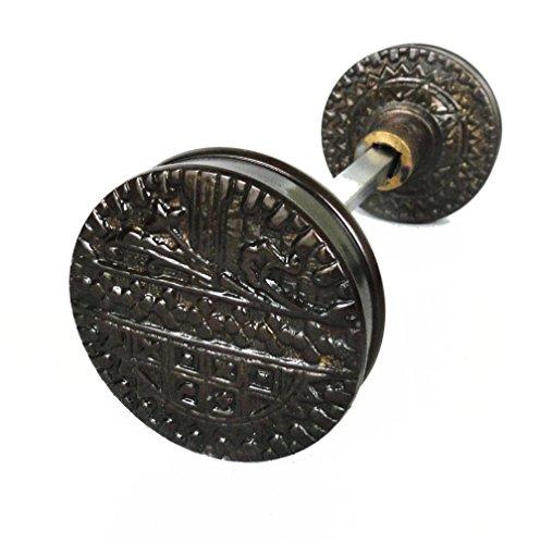Vintage DARK Brass Eastlake Victorian Arts and Crafts Style Door Knob (Vintage Victorian Brass)