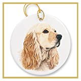 Ornament decorated with a Fawn Cocker Spaniel Dog