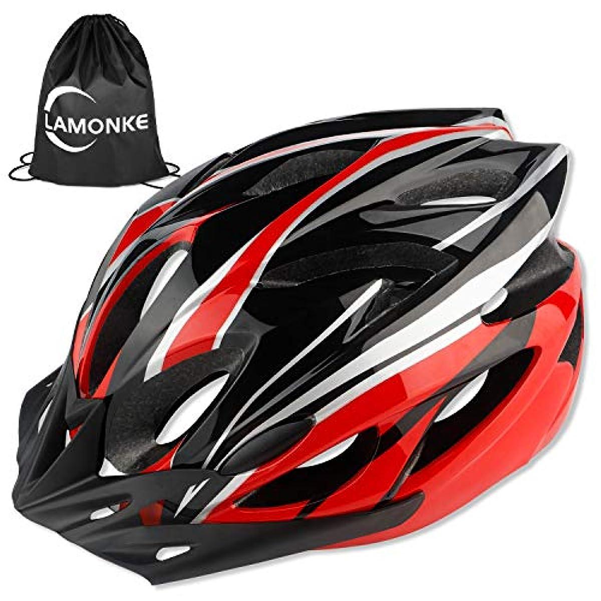 [해외] 고통기성 사이클링 헬멧 초경량 로드 헬멧 썬바이져 부착 고강성 남녀공용 블랙 앤 레드